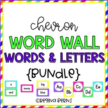 Chevron Word Wall Letters & Dolch Words BUNDLE!