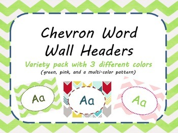Chevron Word Wall Letters/ Headers