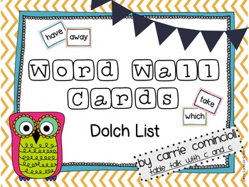 Chevron Word Wall Packet