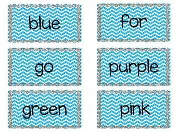 Chevron Word Wall Words