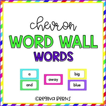 Chevron Word Wall Words {220 Dolch Sight Words + Editable Cards}