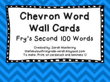 Chevron Word Wall Words (Fry's Second 100)