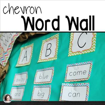 Chevron Word Wall - 220 Sight Words