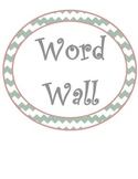 Chevron Word Wall and Alphabet