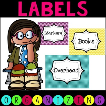 EDITABLE Chevron Word Wall and Classroom Labels
