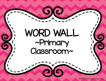 Chevron Word Wall for Primary Grades