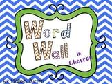 Chevron Word Wall in Blue
