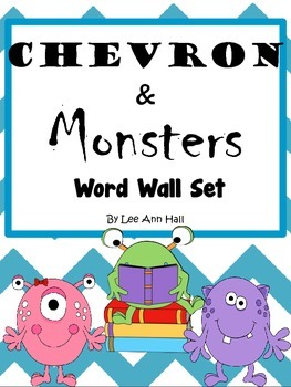 Chevron Word Wall with Monsters
