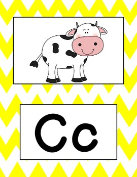 Chevron Word Wall with pictures
