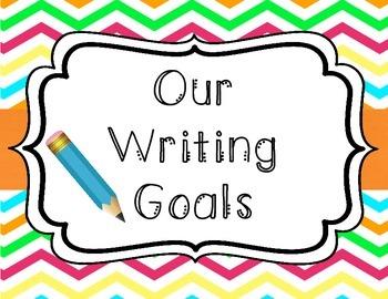 Chevron Writing Goals Clip Chart