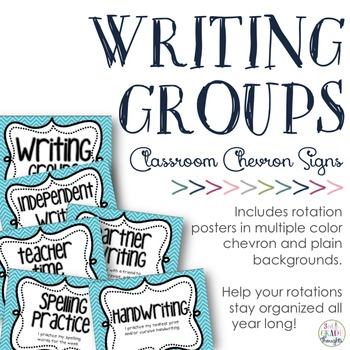 Writing Groups Signs: Chevron