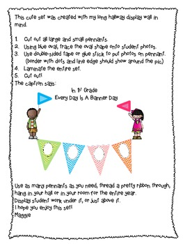 Chevron Year Long Photo Banner For Display of 1st Grade Work