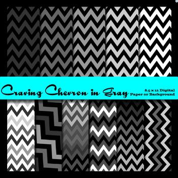 Chevron Zig Zag Paper - Black, white and grey - 8.5 x 11 - USL - chevron paper