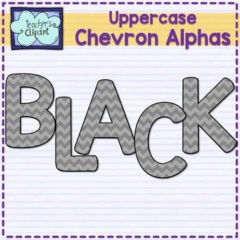 Chevron alphas letters {UPPERCASE - BLACK}