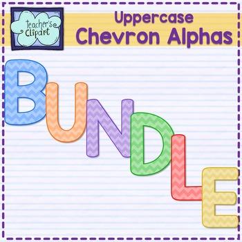 Chevron alphas letters {UPPERCASE - BUNDLE}