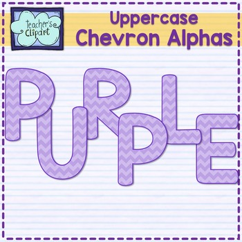 Chevron alphas letters {UPPERCASE - PURPLE}