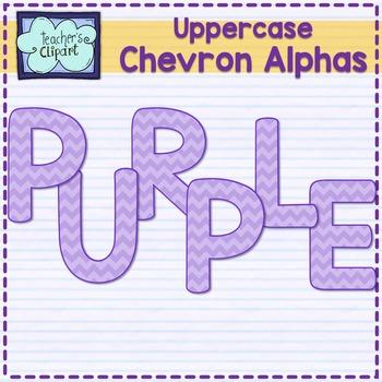 Chevron alphas letters {UPPERCASE - PURPLE}