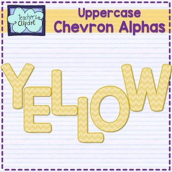 Chevron alphas letters {UPPERCASE - YELLOW}