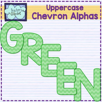 Chevron alphas letters {UPPERCASE - green}