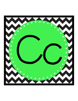 Chevron and BRIGHT Alphabet Strip
