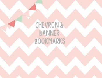 Chevron and Banner READ! Bookmarks