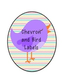 Chevron and Bird Labels