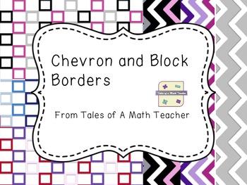 Chevron and Block Frame Bundle