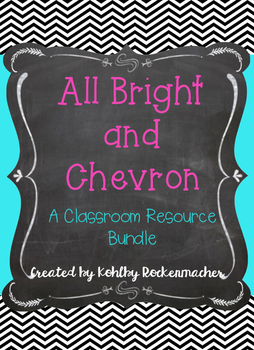 Chevron and Brights Teacher Binder and Resource Printables