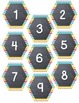 Chevron and Chalk Hexagon Calendar Numbers with Special Days