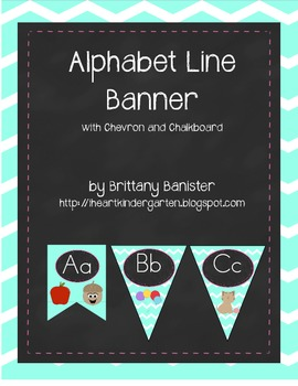 Chevron and Chalkboard Alphabet Banner Print Saxon Phonics