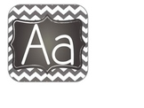 Chevron and Chalkboard Alphabet Letters