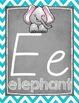 Chevron and Chalkboard Alphabet Posters {D'Nealian}