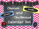Chevron and Chalkboard Calendar Set
