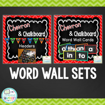 Chevron and Chalkboard Classroom Decor Bundle