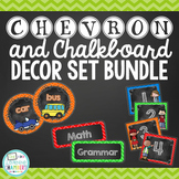 Chevron and Chalkboard Classroom Decor Bundle