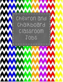 Chevron and Chalkboard Classroom Jobs