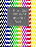 Chevron and Chalkboard Classroom Jobs