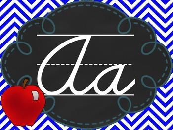 Chevron and Chalkboard Cursive Alphabet Line
