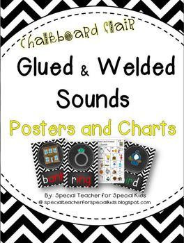 Chevron and Chalkboard **Glued and Welded Sounds Posters and Charts**