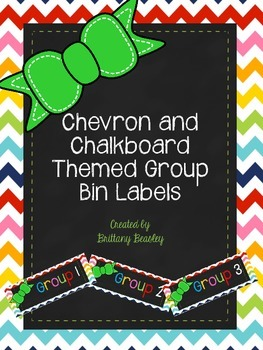 Chevron and Chalkboard Group Labels