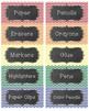 Chevron and Chalkboard Labels - 2 sizes - EDITABLE