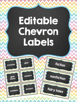 Chevron and Chalkboard Labels - Editable