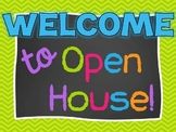 Chevron and Chalkboard Open House/Parent Night PowerPoint Presentation Template