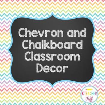 Chevron and Chalkboard Theme Classroom Decor