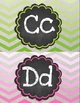 Chevron and Chalkboard Word Wall Alphabet