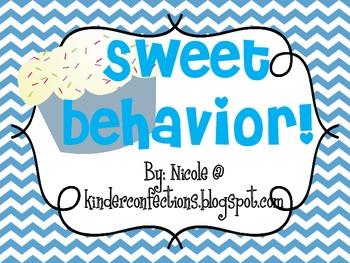 Chevron and Cupcakes Behavior Clip Chart