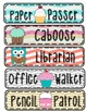 Chevron and Cupcakes Job Clip Chart