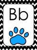 Chevron and Dog Paw Themed Alphabet Wall Display *Primary*