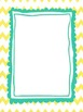 Editable Chevron and Doodle Borders and Pages