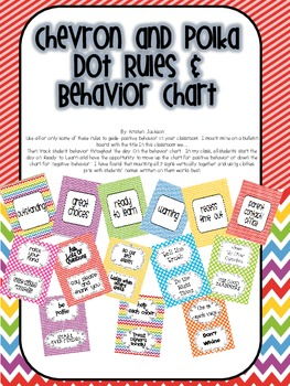 Chevron and Dot Class Rules and Behavior Chart